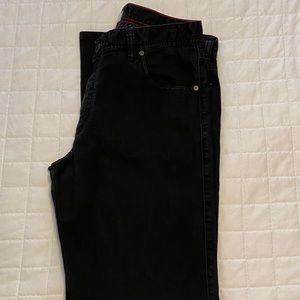 Alberto modern fit black denim jeans